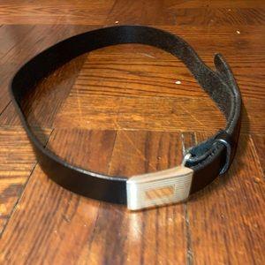 J.Crew Men's Black Leather Belt